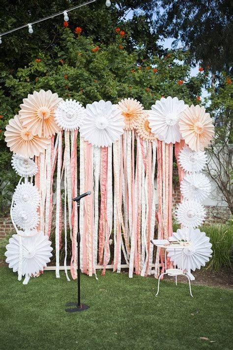 Diy Background Ideas by 20 Diy Paper Wedding Backdrops Brit Co