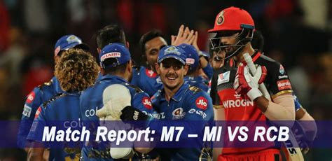 4 important decisions by rcb after ipl schedule   new wicket keeper. IPL 2019 Match Report: M7 - MI VS RCB   Crickex