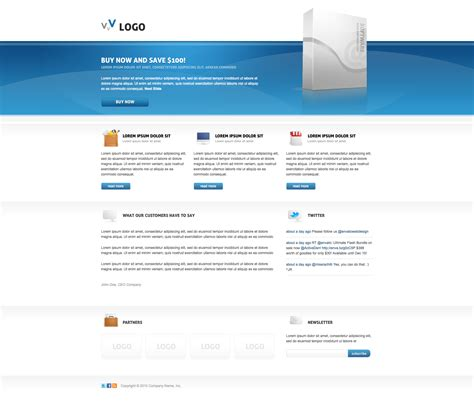 landing page template 50 most effective html landing page templates