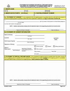 doc625404 passport consent forms ds3053 statement of With documents for passport minor