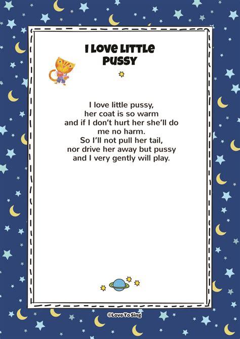 love  pussy kids video song   lyrics activities