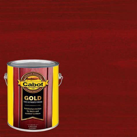 cabot deck stain home depot cabot 1 gal fireside cherry gold exterior deck