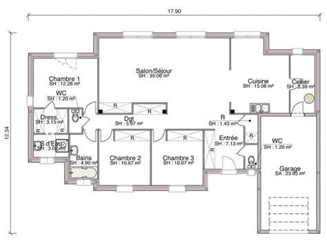 plan d une chambre d hotel plan de construction d une maison de 3 chambres