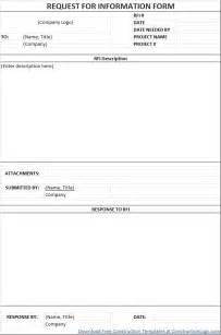 Excel Form Template Construction Schedule Templates Form Templates For Excel Rfi Form Free