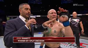 Photo: Josh Emmett's bone broke through his finger, still ...