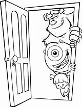 Coloring Door Inc Mike Monster Boo Pages Monsters Sulley Wazowski Front Colouring Doors Sullivan Disney James Takes Colorear Para Coloringpagesfortoddlers sketch template