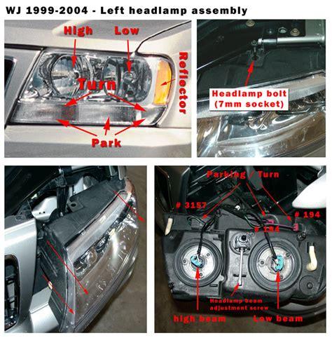 jeep grand wj auto headls and headl alignment