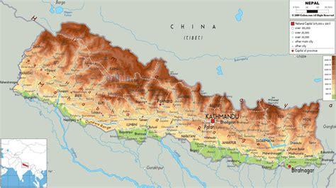 nepal map toursmapscom