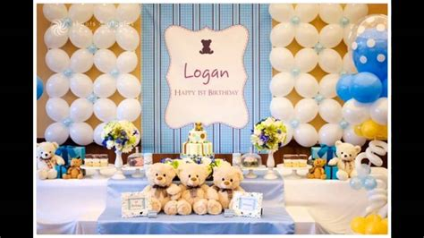 1st Birthday Party Themes Decorations At Home For Boys