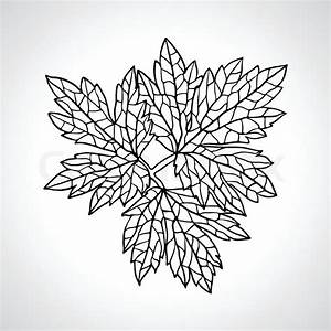 Stylized Detail Silhouette Of Leaf Isolated On Background
