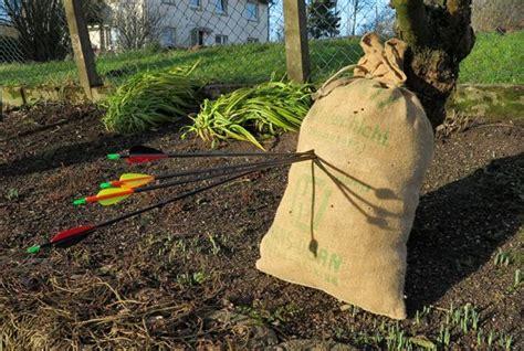 armbrust bogen bauen preiswerter pfeilfang schie 223 sack selber bauen pfeilfang