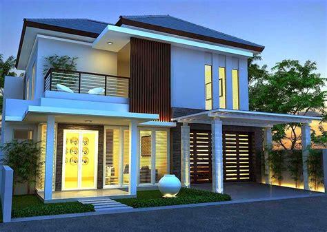 contoh desain rumah minimalis  lantai  nampak
