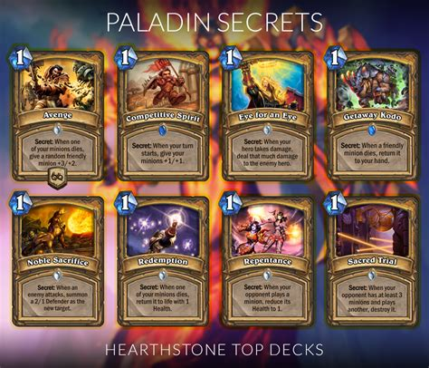 secret paladin deck hearthpwn hearthstone secret sheets hearthstone top decks