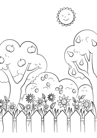 beautiful garden coloring page  printable coloring pages