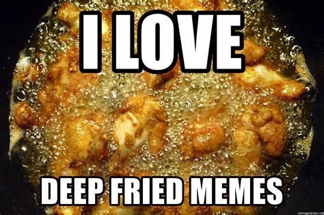 How To Make Deep Fried Memes - i love deep fried memes deep fryer meme generator