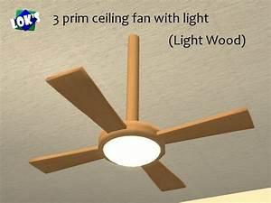 Second life marketplace lok s ceiling fan light maple