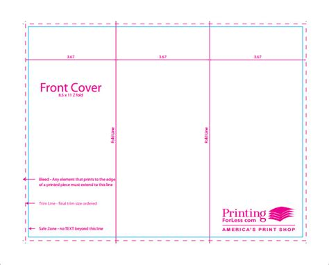how to make a trifold pamphlet in word free printable brochure template csoforum info