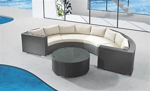 Rattan Lounge Rund : jaavan round cushion wicker sectional lounge set round ctrprtset ~ Indierocktalk.com Haus und Dekorationen