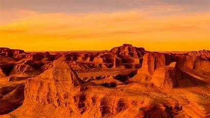 Desert Windows Sunset Gobi Asia Panoramic Wallpapers