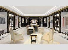 A luxury walkin closet for exclusive villas