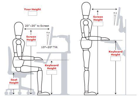 standing desk height calculator standing desk guide measurements exles and benefits