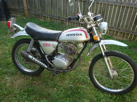 Vintage 1973 Honda Sl125 Motorcycle Enduro Sl 125 Classic