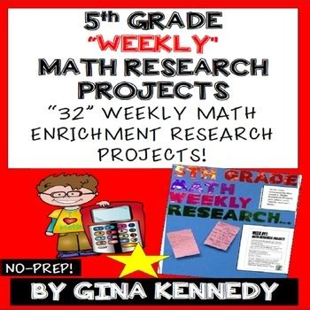 5th grade math projects weekly math enrichment projects for the entire year