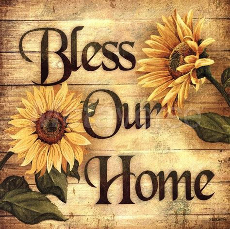 bless our home sunflower blessings wall floral country kitchen home decor sunflowers