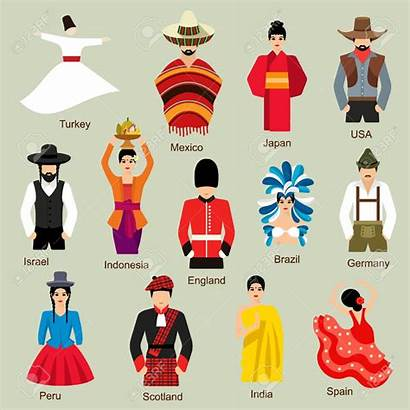 Traditional Costumes Clipart Kostuums Traditionele Clip Costume