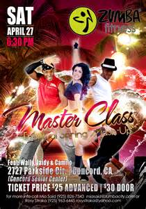 zumba event flyers class master tickets selling am contact