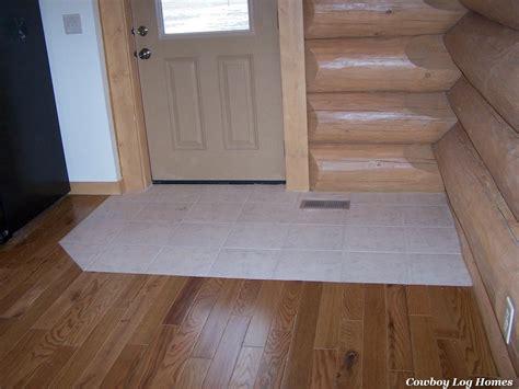 hardwood tile flooring ceramic tile in log home cowboy log homes