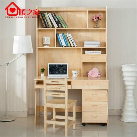 study desk and bookshelf solid wood bookcase desk wood computer desk study table