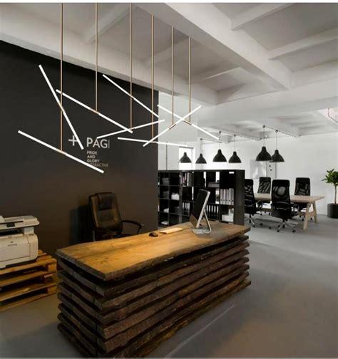 reception desk office modern light bar lamp hotel pendant engineering creative led europe lighting northern lights zx nordic crystal china