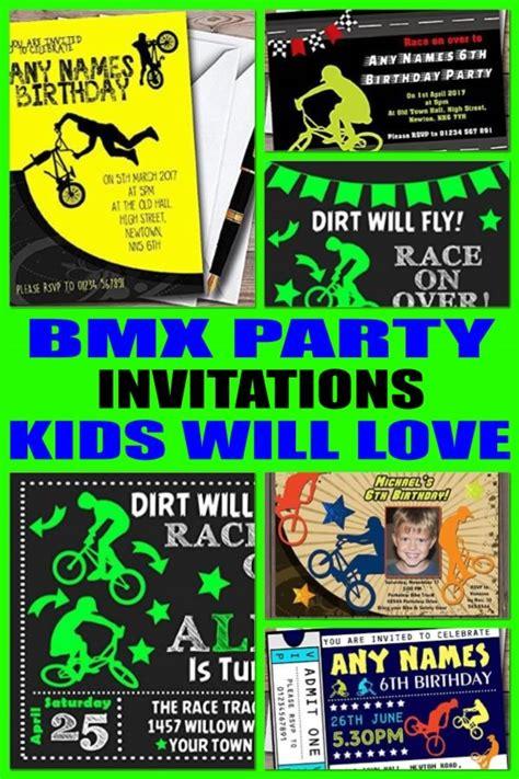bmx party invitations