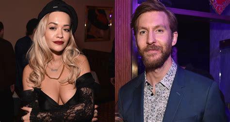 Rita Ora Reunites With Ex Calvin Harris At Benny Blanco