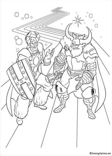Kleurplaat Thor by Thor Kleurplaten Kleurplaten Eu