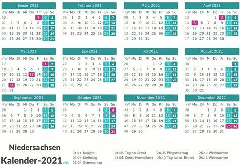 Dabei sollen die flächen von unternehmen. FEIERTAGE Niedersachsen 2021