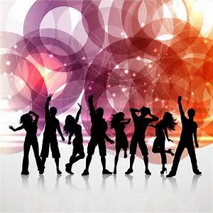 People Dancing Silouettes Background Vector | Free Download