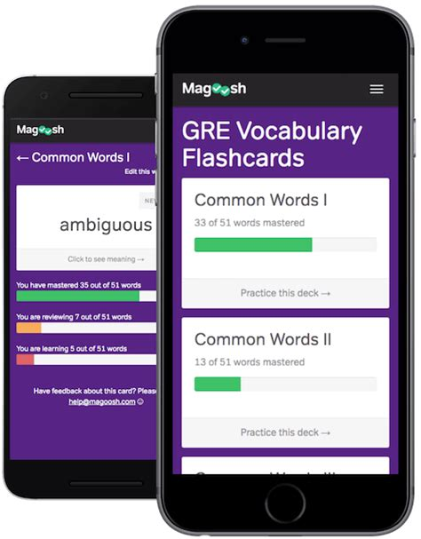 Free Gre Vocabulary Flashcards  Magoosh Gre