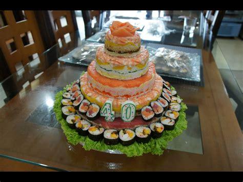 sushi birthday cake 5 layer sushi cake by bap2s on deviantart
