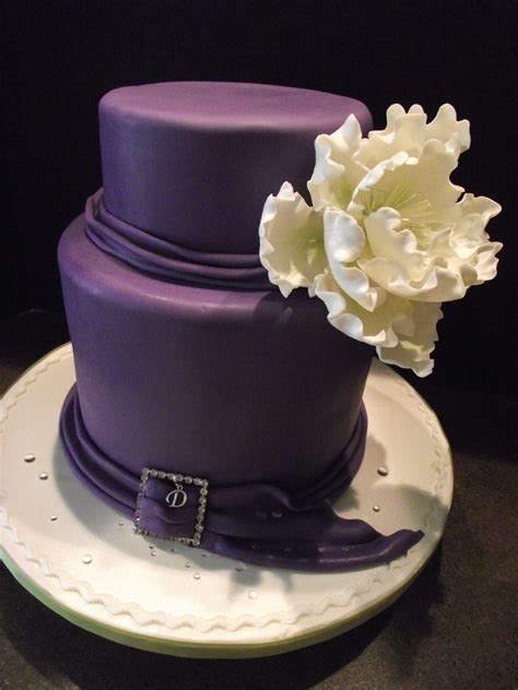 Elegant 40th Birthday Cake And Could See This For A Small