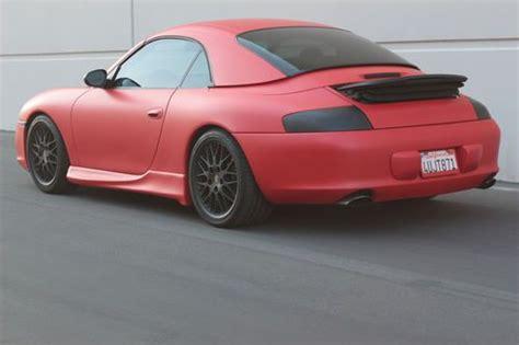 porsche matte red buy used 2002 matte red porsche 911 carrera 4 convertible