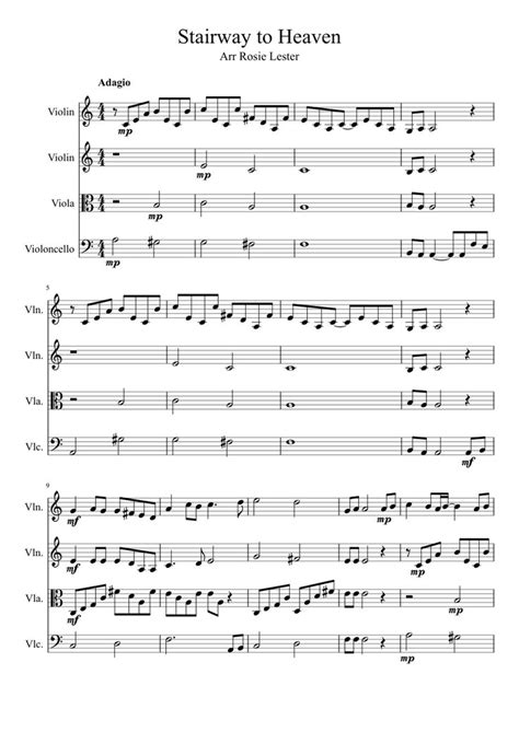 free violin sheet music stairway to heaven by led