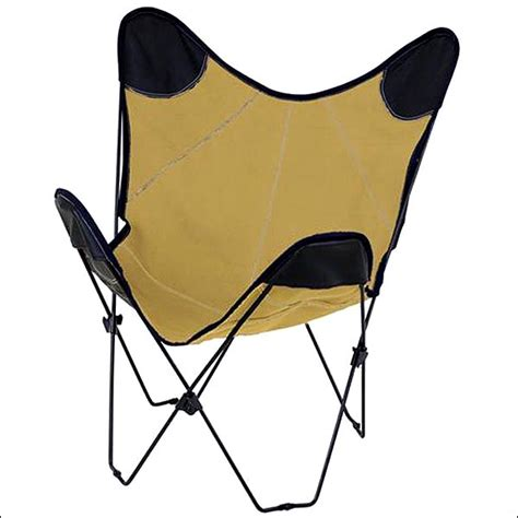 Folding Butterfly Chair Replacement Covers by Hilason Canvas Butterfly Folding Lounge Chair Black