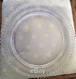 rare imperial glass candlewick birthday cake plate platter