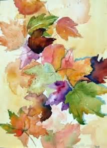Leaf Watercolor Painting