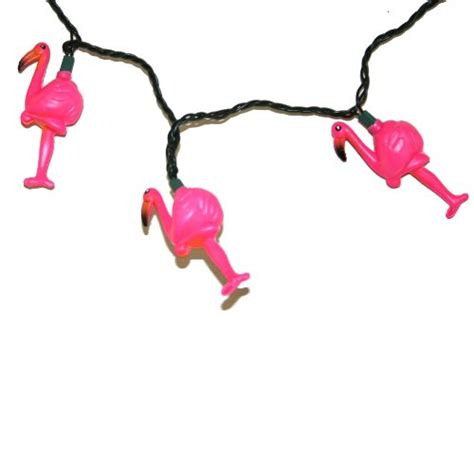 top price pink flamingo light string set