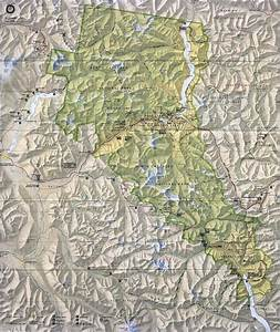 North Cascades National Park Physical Map - north cascades ...