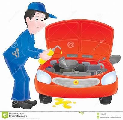 Mechanic Clipart Motor Clip Repair Illustration Working
