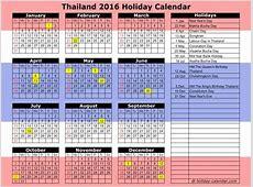 Thai Buddhist Calendar 2016 Calendar Printable 2018